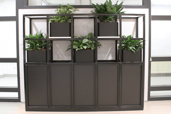 COwerk Cast divider wandkast staal zwart planten restaurant pr10