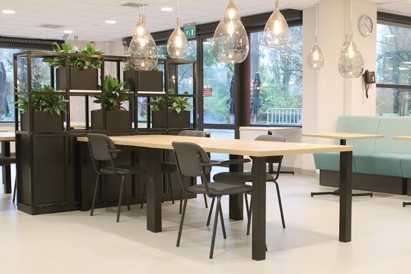 COwerk Cast divider wandkast staal zwart planten restaurant pr3