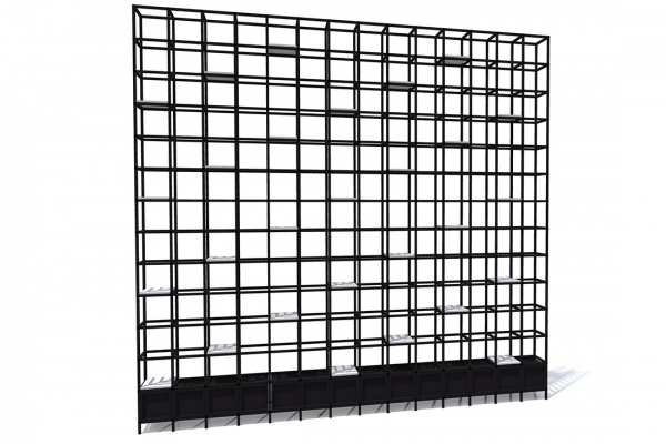 COwerk Cast divider wandkast staal zwart planten restaurant prRD1